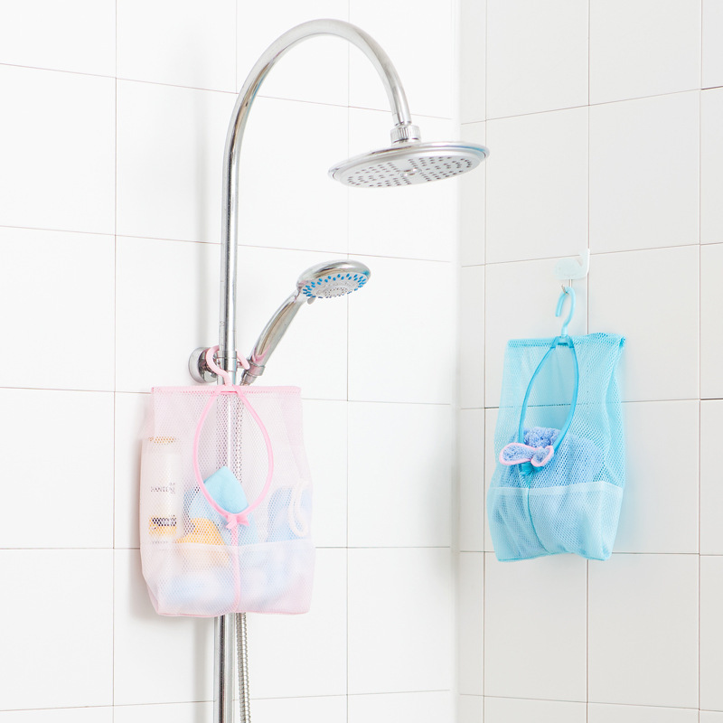 Bath Toy Bathroom Storage Bag Kids Baby Bath Tub Toy Tidy Storage Suction Cup Bag Mesh Bathroom Organiser Net