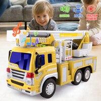 GizmoVine 1:16 Vehicle Engineering Car Model Inertial Toy Car Plastic With Light Music Gift Kids Children Toys For Children Gift