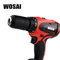 WOSAI Electric Drill Lithium Battery Cordless Electric Hand Drill Power Rechargeable Tools Screwdriver Power Driver