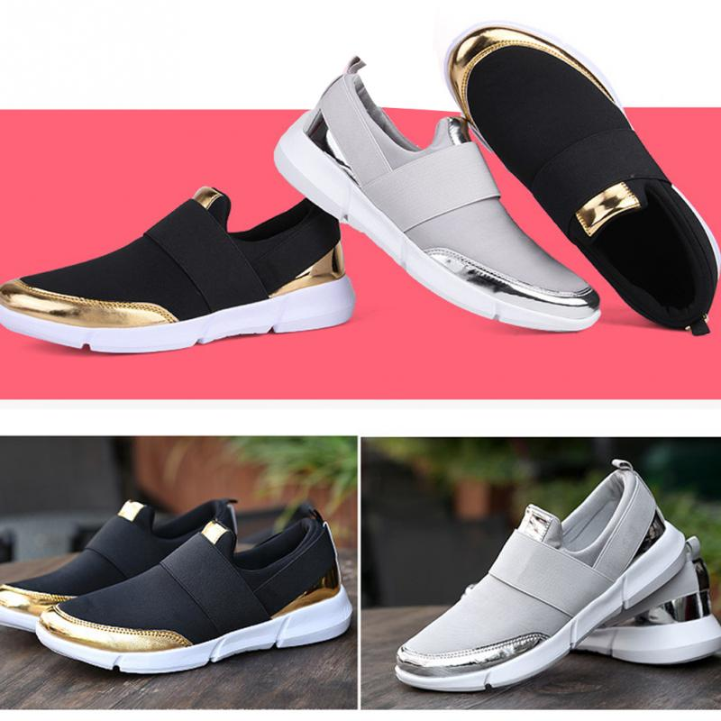 2018 New Women Casual Shoes Breathable Light Feet Slip on Flat Shoes Girls Students Leisure Comfortable Wild Flat Shoes chloe love chloe