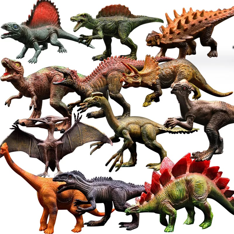Dinosaur Toys Model Dragon-Toy-Set Play-Figure Jurassic Park Velociraptor Animal-Action