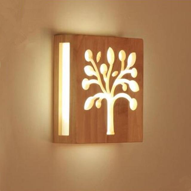 Modernen Chinesischen Stil Holz Wandleuchte 2020 Cm Acryl Platte Baum Form