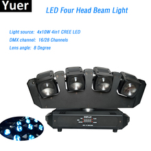 цена на Led Moving Head Light 4x10W RGBW 4in1 Cree led lamp Four Head Beam Moving Head 16/28 Channels DMX512 For Party KTV Disco DJ