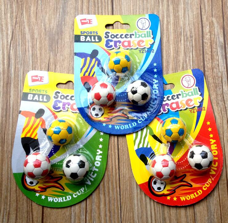 1-Pack Novelty Soccerball Pencil Eraser , Football Shaped Eraser For School Kids As Prizes