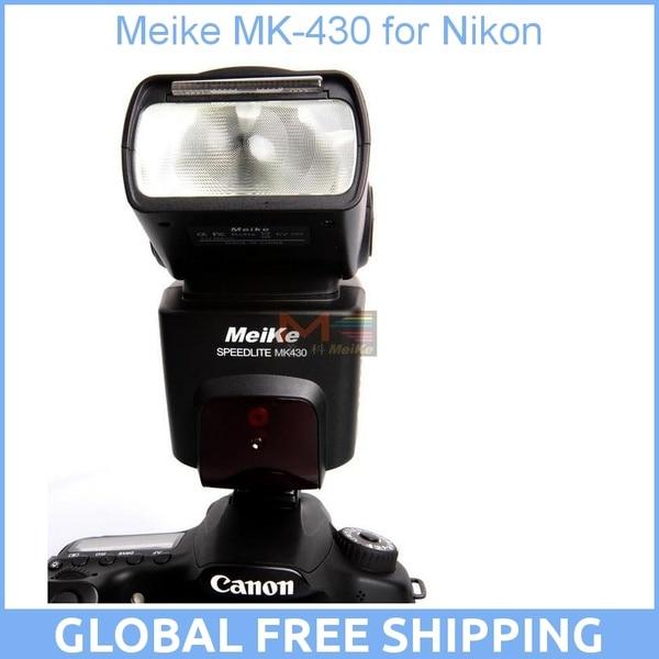 Meike MK-430 MK430 TTL Flash Speedlite for Nikon D7100 D7000 D5100 D5300 D3100 D600 D750 D800 D3200 D5500 D90 D80 D300s meike mk 320 i ttl hss master flash speedlite for nikon j3 d750 d550 d810 d610 d7100 d5300 d5100 d5200 d5000 d3300 d3200 d3100