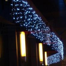 Новогодние светодиодные рождественские легкие гирлянды вечерние украшения 110-220 В 10x0,65 м светодиодная Рождественская гирлянда «Cortina de» светодиодные занавески
