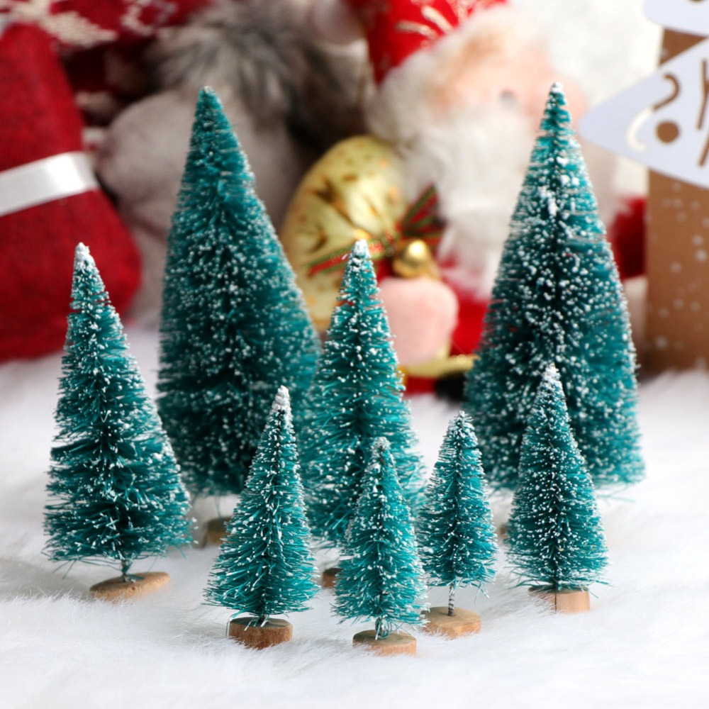 aytai 8pcs fake christmas tree 4 sizes mini xmas small pine tree placed in the desktop home christmas party decoration gifts - Mini Fake Christmas Tree