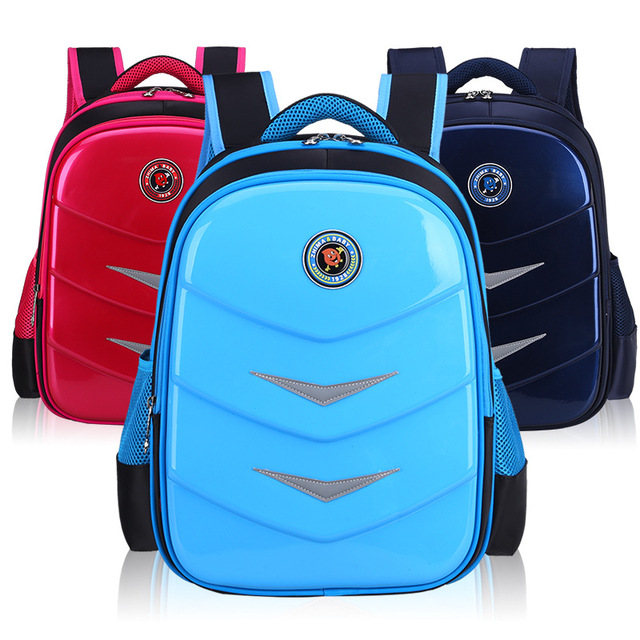 PU Waterproof Children Backpacks Large Capacity Lightweight Primary School Grade 1-3-6 Students School Bags For Boys And Girls