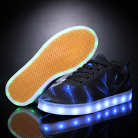 2017 New Size Led Luminous Shoes For Boys Girls Fashion Light Up Casual Kids 7 Colors