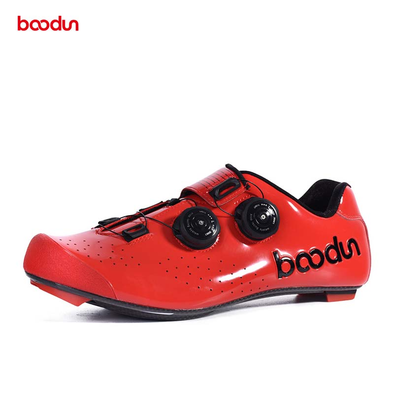 Ultralight Road Bike Shoes Cycling Self locking Carbon Fiber Sole Racing Riding Bicycle Shoe with Double Rotating Buckles in Cycling Shoes from Sports Entertainment