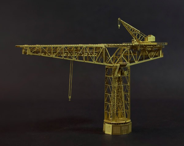 1/700 échelle KM 250t Cantilever géant (Blohm + Voss), (modèle de construction militaire en métal, non assemblé)
