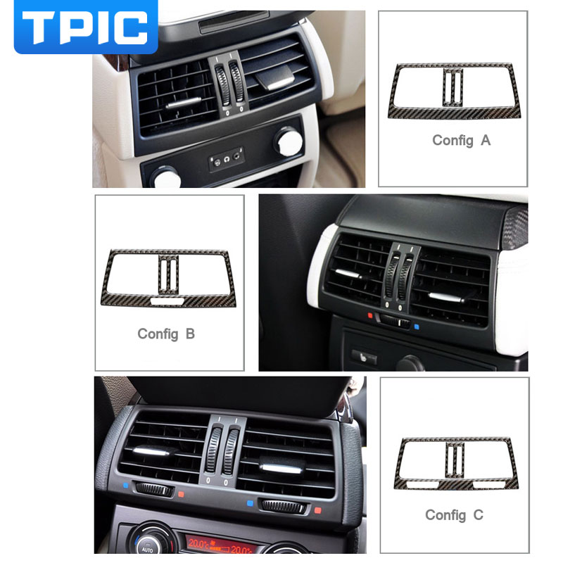 Carbon Fiber Car Rear Air Conditioning Outlet Frame Decor Back AC ...
