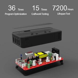 Image 5 - محول فولطية للسيارة 12 فولت 220 فولت 200 وات محول كهربائي مع 4 مقبس USB شاحن ولاعة السجائر محول السيارات