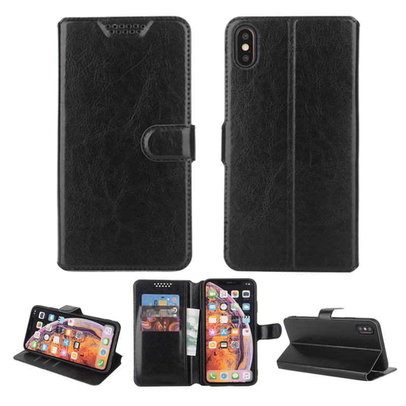 High Quality Stander Leather Case Cover for <font><b>Nokia</b></font> 1 <font><b>2</b></font> <font><b>2</b></font>.1 TA-<font><b>1029</b></font> 1035 3.1 Plus 1063 1057 Flip Wallet Cases Black Soft Covers image