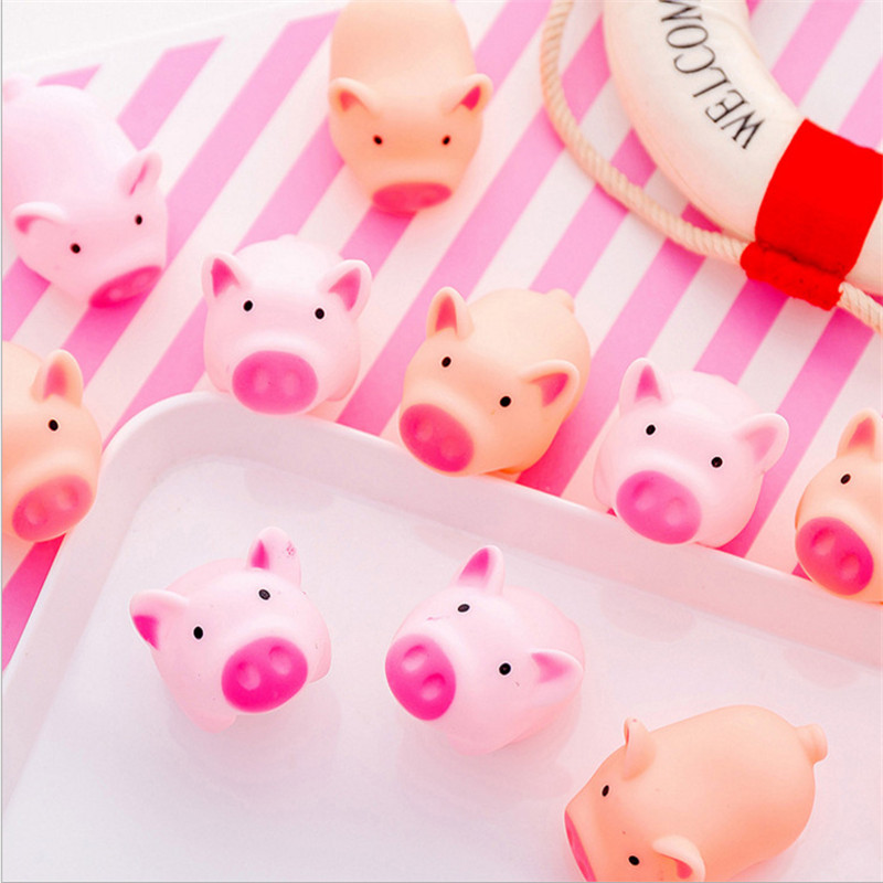 New Arrival 5 Piece/Set Cartoon Pig Animal Chew Sound Play Pig Toy Squeaker Squeaky Funny Toy Tricky Toys Reduced Pressure Toy