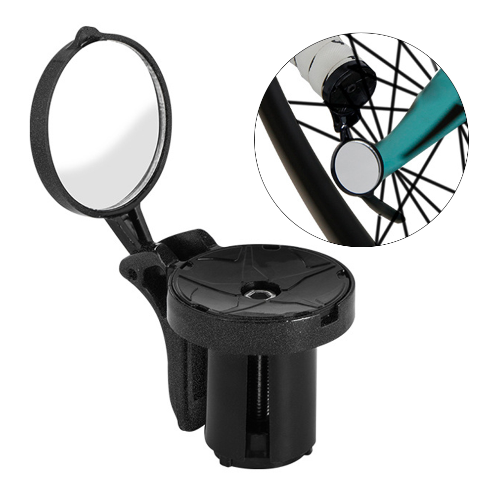 Easy Install Practical 360 Degree Rotate Replacement Cycling Clear Accessories Durable For Bike Handle Rearview Mirror Round