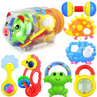 7 PCS SET Plastic Colorful Rattle 0 3 Year Old Baby Mobile Baby Teether Toys Educational