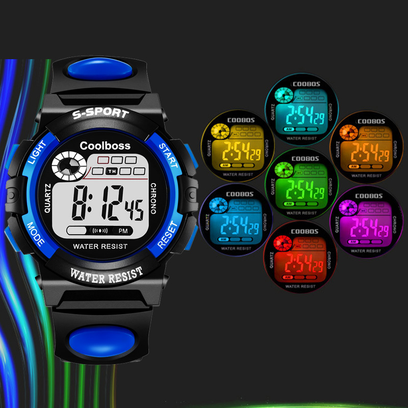 Fashion Sport Watch Children Kids Watches For Boys Students Electronic LED Digital Wristwatch Child Wrist Clock Hours Hodinky