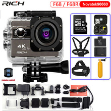 Action Kamera F68 Ultra HD 4 Karat 24FPS Wifi Novatek 96660 Wasserdichte 30 Mt F68R fernbedienung Extreme Sports Kamera