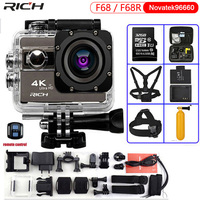 F68 Action Video Camera 2 0 Inch 4K 24FPS Novatek 96660 Waterproof Wifi With F68R Remote
