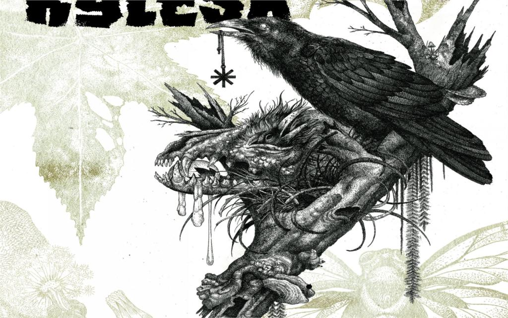 Music KYLSEA sludge metal heavy dark gothic raven crow skull 4 Sizes Wall Decor Canvas  Poster Print