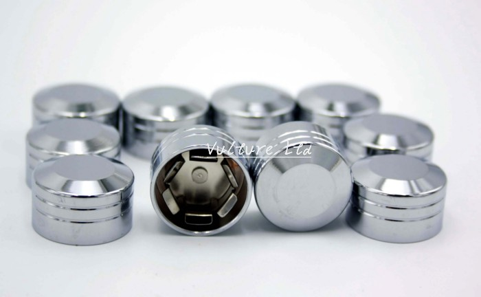"""10 HOT TOPPERS HARLEY Engine Trim 1//4/"""" Chrome Dome Socket Head Cap Screw Cover"""