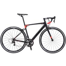 SAVA Road bike R8 węgla rower szosowy z włókna węglowego wyścigi rowerowe roadbike z SHIMANO SORA R3000 18 prędkości rower szosowy z włókna węglowego widelec tanie tanio Mężczyzna Aluminum Alloy Carbon Fibre 160-180 cm 10 8kg Double V Brake 0 1 m3 Zwyczajne pedału 150 kg 13kg Nie Amortyzacja