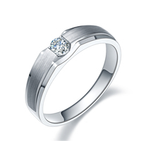18K Gold Diamond Ring White Gold Diamond Ring Men And Women Married Marriage Proposal Couple Ring
