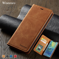 Luxury Flip Case for Huawei Mate 20 P20 P30 Pro Lite Nova 3e 4e P Smart Plus 2019 Card Holder Leather Wallet Stand Book Cover