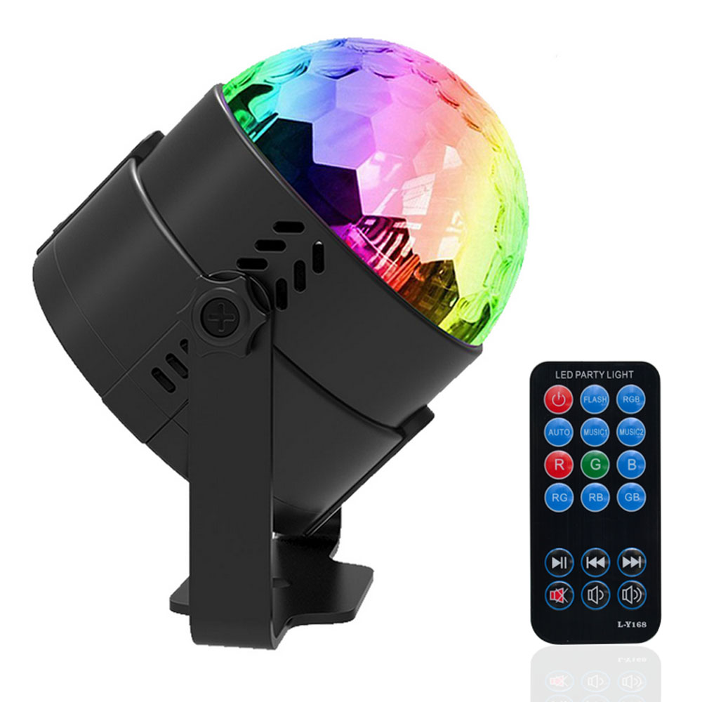 Jiawen Sound Activated Disco Lights Rotating Ball Lights 3W RGB LED Stage Lights For Christmas Home KTV Xmas Wedding Show Pub disco rgb led stage light auto rotating ball lamp effect magic party club lights for christmas home ktv xmas wedding show pub