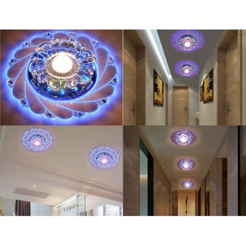 Coquimbo потолочные светильники из стекла + хрусталя высокой яркости 220-240 в внутренний заподлицо Коридор светильник светодиодный Plafonnier диаметр 20 см