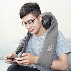 Xiaomi Mijia LF 3D masażer ugniatający na szyję w kształcie litery U masaż elektryczny regulowana siła TC z podgrzewaną wodą wyrabiania masaż 6