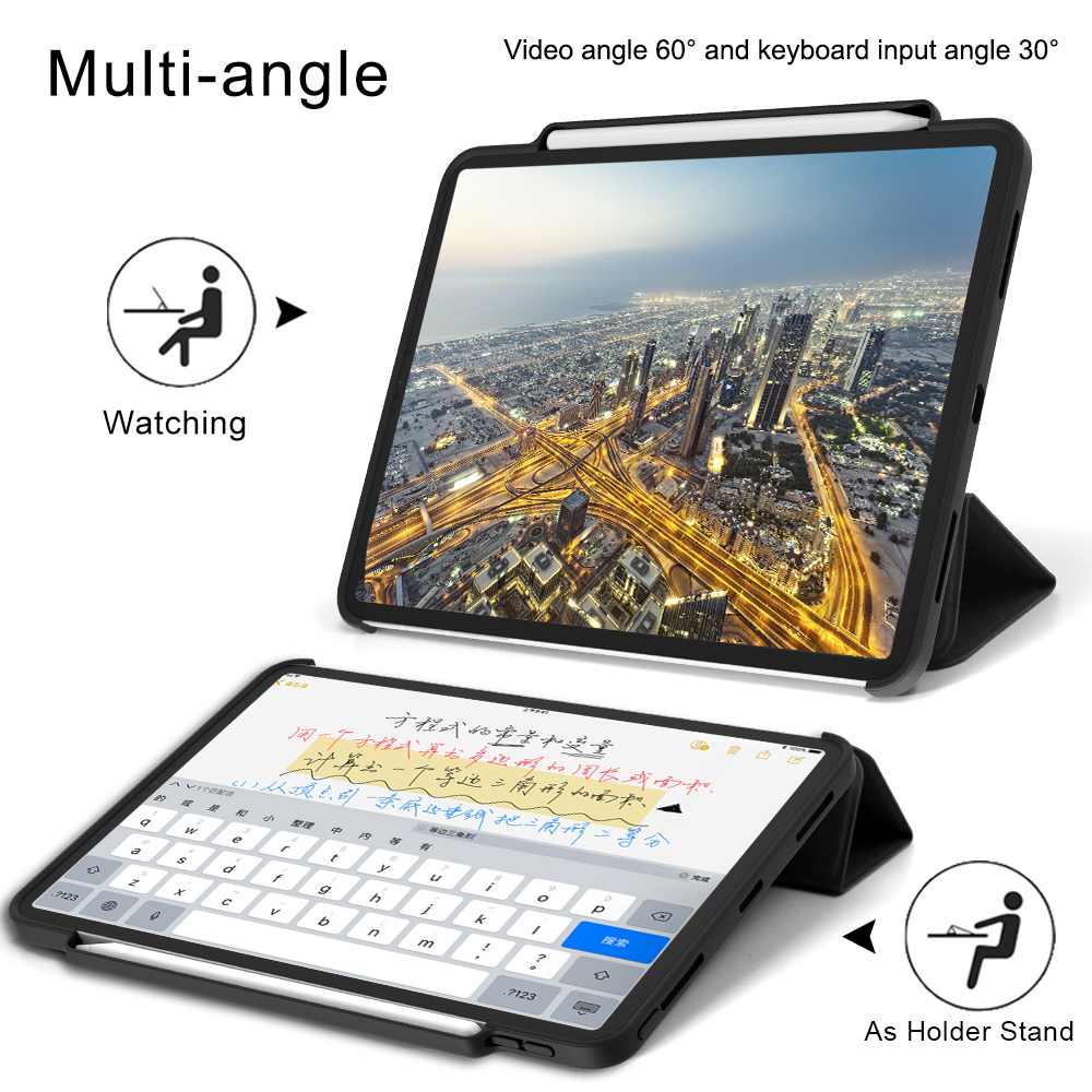 af0e4506ef9 For iPad Pro 12.9 2018 Case Pencil Holder Cloth Leather Microfiber Inner  Smart Cover For iPad Pro 12.9 A1876 A2014 A1895 A1983 -in Tablets & e-Books  Case ...