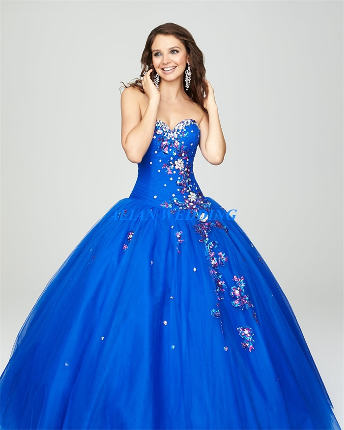 Popular Blue Quinceanera Dresses 2015-Buy Cheap Blue Quinceanera ...