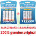 Enelong 4 pc/1 cartão de 1.2 v 2100 mah baterias aa + 4 pcs/1 cartão de 900 mah pilhas aaa ni-mh aa/aaa bateria recarregável