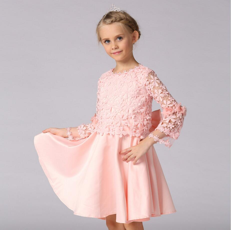Teenage Girls Dresses for Party and Wedding Dress full  pink  Layered Dress for Teens Girls Elegant Lace princess Dress  HB2083