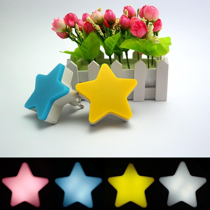 Mainifire EU/us плагин звезды светодиодный ночник цоколем плагин Уолл звезда Освещение лампа для ребенка дети Спальня украшения