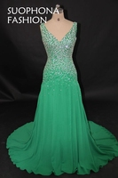 Elegant Abendkleider 2017 Chiffon Formal Dress Evening Dress A Line Vestido De Festa Cheap Morocco Evening
