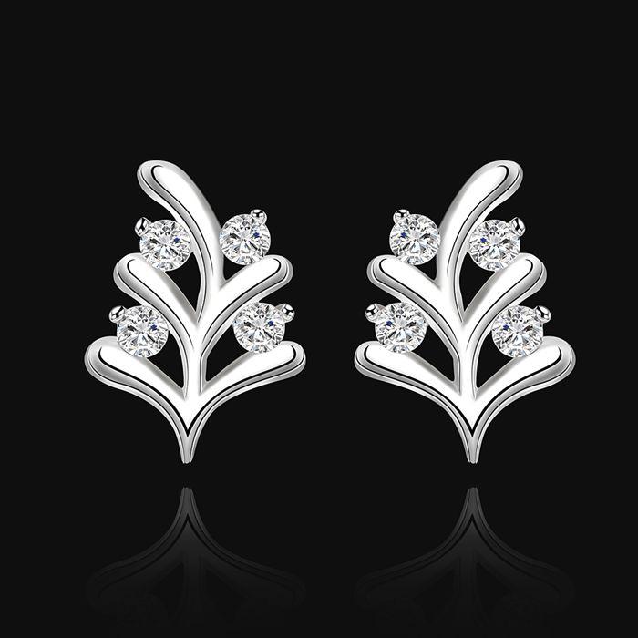 925 de la joyería plateado pendientes, bañado en plata moda, / cyhalpoa eppangwa