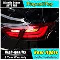 AUTO. PRO 2012 2014 luzes traseiras Para Ford focus 3 luzes traseiras com tecnologia LED para Ford Focus led nevoeiro Para foco 3 acessórios do carro styling