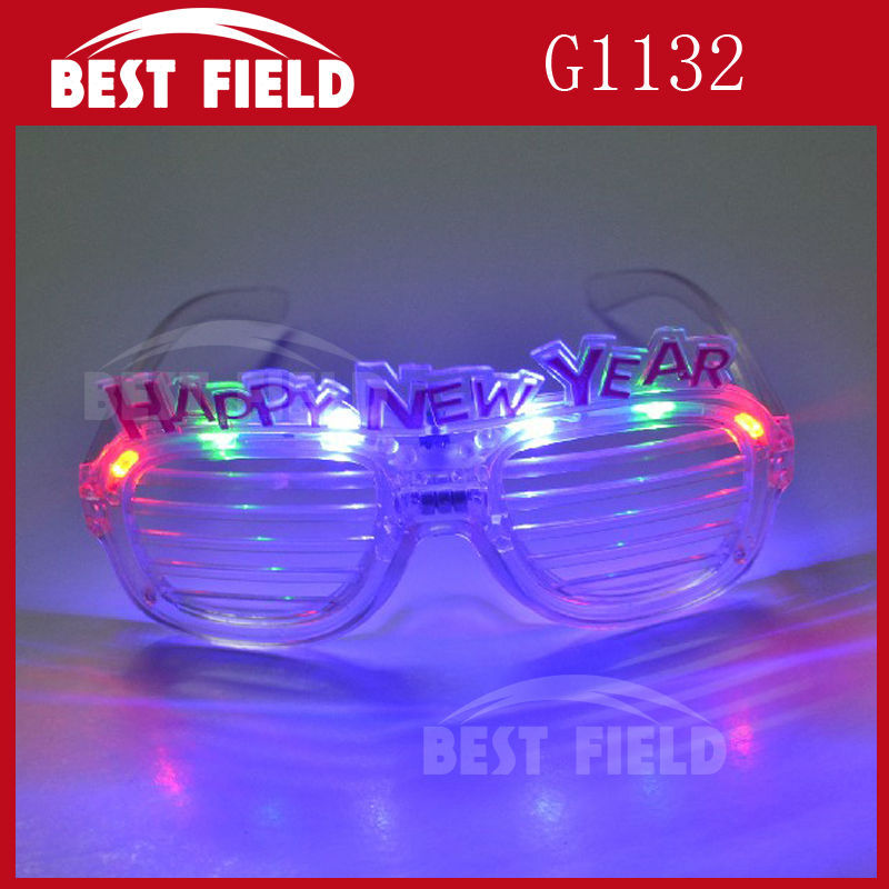 1d64c26904 Free shipping happy new year led shutter glasses led glasses light up  eyeglasses for party favor supplies-in Glow Party Supplies from Home    Garden on ...