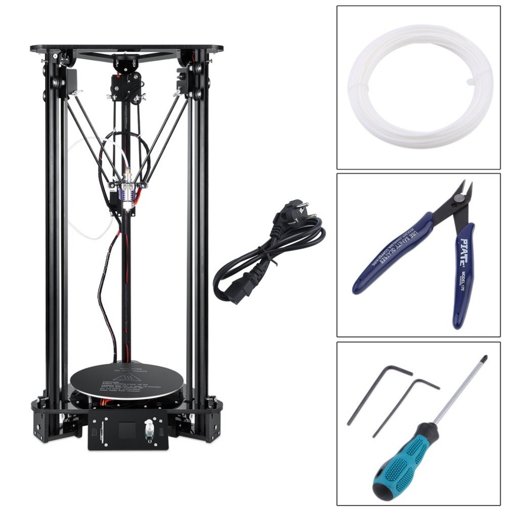 2018 NOUVEAU Anet T1 3D Imprimante Haute Vitesse Lcd Écran DIY Kit Pour Kossel Linéaire Delta Grande Taille D'impression Facile à Assembler UE Plug