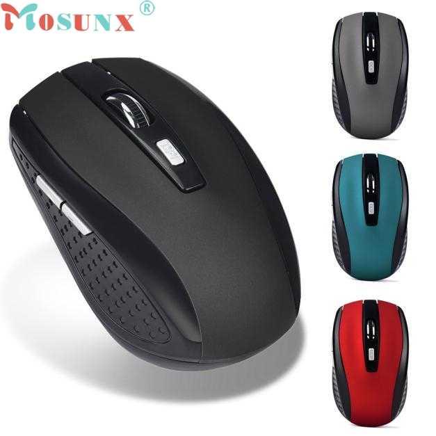 Mosunx мышь 2,4 ГГц Беспроводная игровая мышь USB приемник Pro Gamer для ПК ноутбук Настольный 0106
