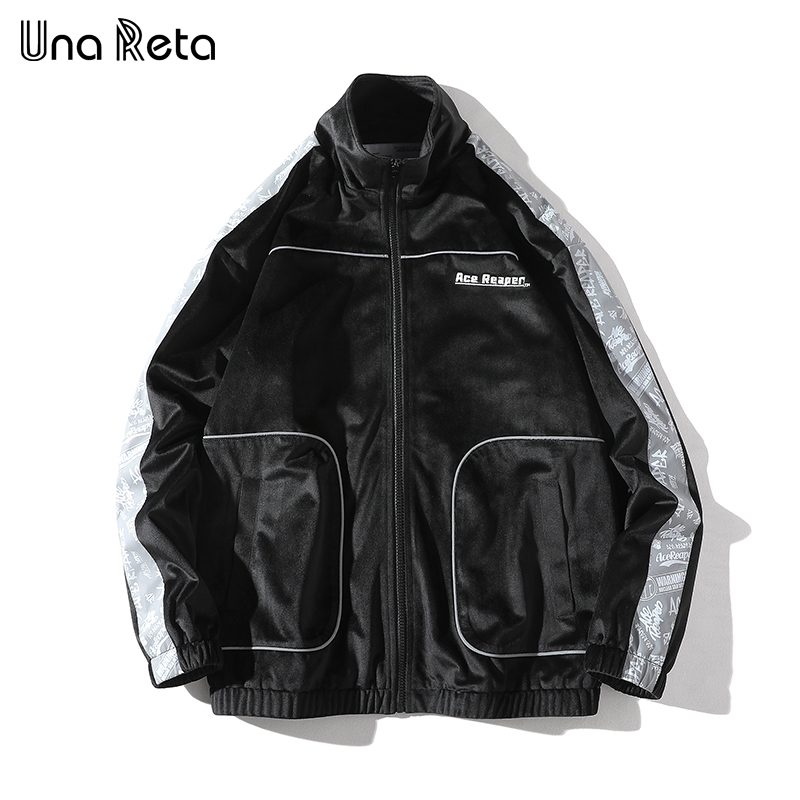 Mens Embroid USA Air Force Bomber Jacket Have Armbands Cool Men s Cotton Rib Mandarin Collar