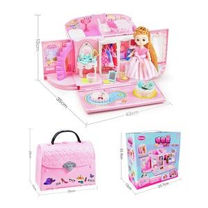 Image 5 - Diy בובת בית תיק ריהוט מיניאטורי אביזרי חמוד בובות מתנת יום הולדת בית דגם צעצוע בית בובת צעצועים לילדים