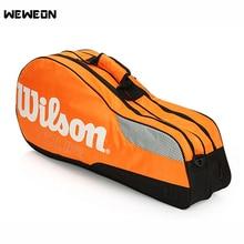 6 шт.. сумка для теннисных ракеток для взрослых детей бадминтон сумка для тренировок на одно плечо ракетка сумка с двойным основным карманом для обуви