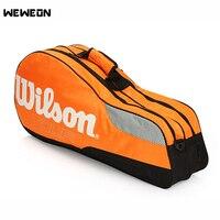 6Pcs Tennis Racket Bag Adult Children Badminton Bag for Training Single Shoulder Racket Bag with Double Main Pocket for Shoes