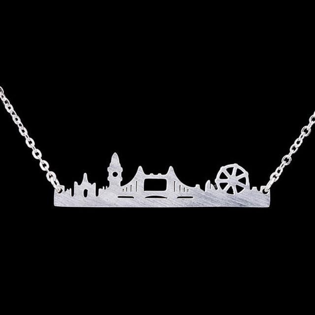 éclatant nouvelle apparence Style classique € 1.6 20% de réduction|London Skyline Collier Paysage Urbain ROYAUME UNI  Ville Dainty Collier London Bridge Ferris Roue Big Ben Moderne Collares de  ...