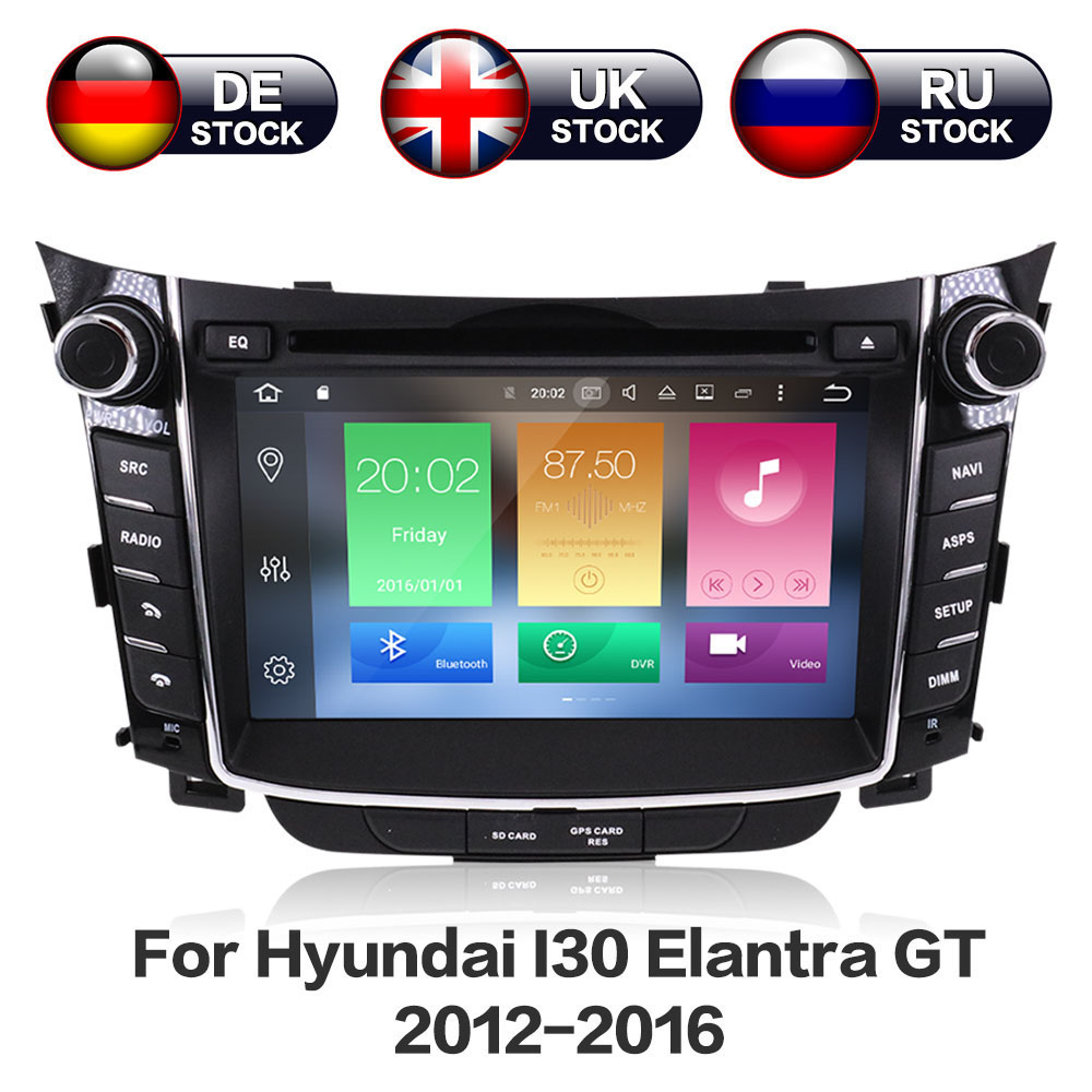 цена Android 8.0 8 Core RAM 4GB ROM 32GB Head Unit SatNav Navigation Audio Car DVD Player Radio For Hyundai I30 2011 2012 2013