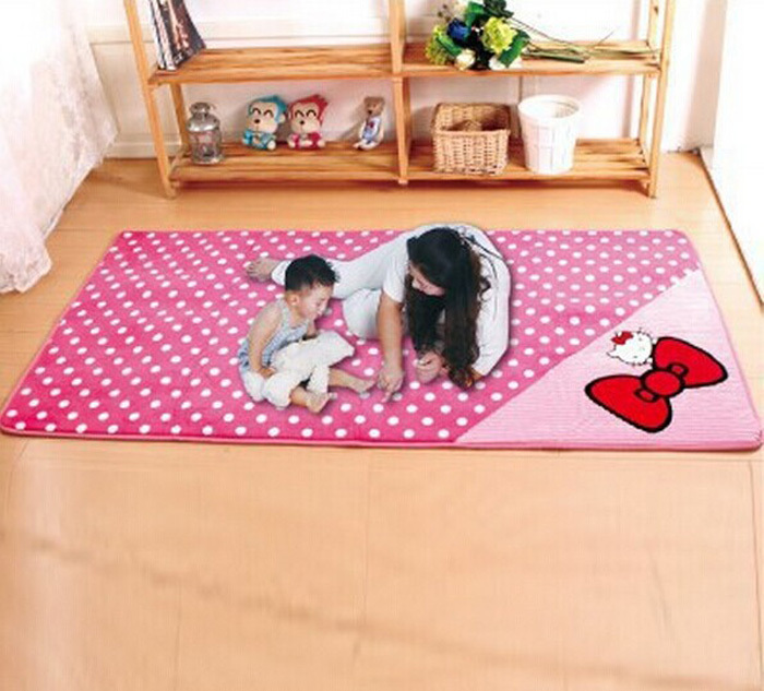 Exceptional Free Shipping Hello Kitty Rug 90*185CMFashion Living Dining Bedroom Car Rug  Anti Skid ...